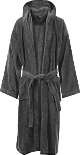 Aumsaa Men Towelling Robe 100/% Cotton Terry Towel Hooded Shawl Collar Bathrobe Dressing Gown Bath Robe Perfect for Gym Shower Spa Hotel Robe Holiday
