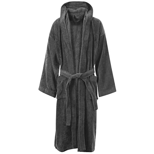 c581f7bbf8 Unisex 100% Luxury Egyptian Cotton Super Soft Velour Towelling Bath Robe  Dressing Gowns Bathrobe Terry
