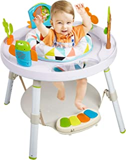 Dporticus Baby 3-Stage Jump Entertainers Activity Center Playful Multi-Function Jump&Rocking Chair with Toys and Music