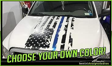 Ram Distressed American Flag Hood Decal 27