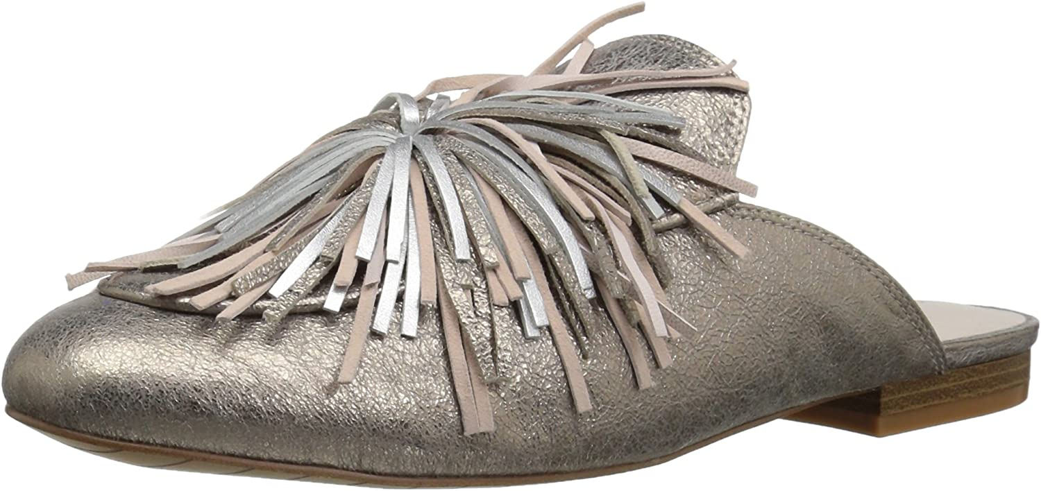 Kenneth Cole New York Womens Wallice Firework Tassel Flat Mule Mule
