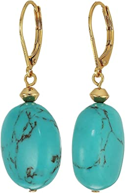 LAUREN Ralph Lauren Paradise Found Turquoise Nugget Drop Earrings