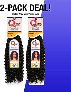2-PACK DEALS! Milky Way Que Human Hair Braids Water Bulk (18