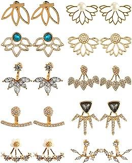 rose gold lotus earrings