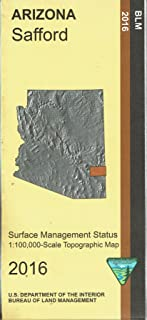 Safford Surface Management Status 1:100,000-Scale Topographic Map