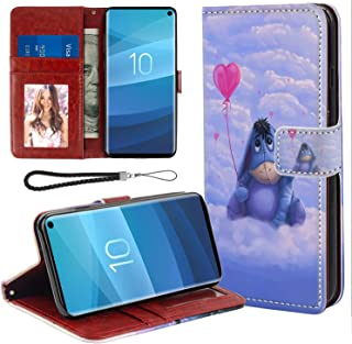 for Samsung Galaxy S10 Wallet Case Hippo Flip Leather Case with Kickstand PU Leather Stand Folio Cover Case for Samsung Galaxy S10
