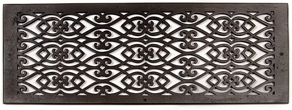 Naiture 8 X 24 Oversized Solid Cast Bronze Wall Return Air Vent Cover Grille Or Register Victorian Style Dark Bronze Finish Amazon Com