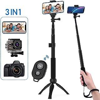 HOBFU Monopod rotaci/ón de 360/º, tr/ípode Selfie, Mando a Distancia, la mayor/ía de Las Pantallas Palo de Selfie inal/ámbrico Extensible