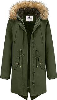 Sponsored Ad - Uoiuxc Women's Long Warm Winter Coat Hooded Fleece Lined Parkas Jacket