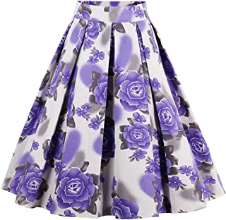 purple african print skirt
