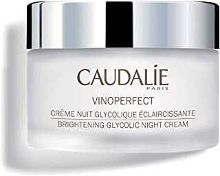 Caudalie Vinoperfect Brightening Glycolic Night Cream. Diminish Dark Spots, Acne Scars and Uneven Skin Tone with Papaya Extract and Glycolic Acid. Safe for Sensitive Skin (50 Milliliters)