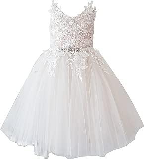 Lace Tulle Straps Wedding Flower Girl Dress Junior Bridesmaid Dress