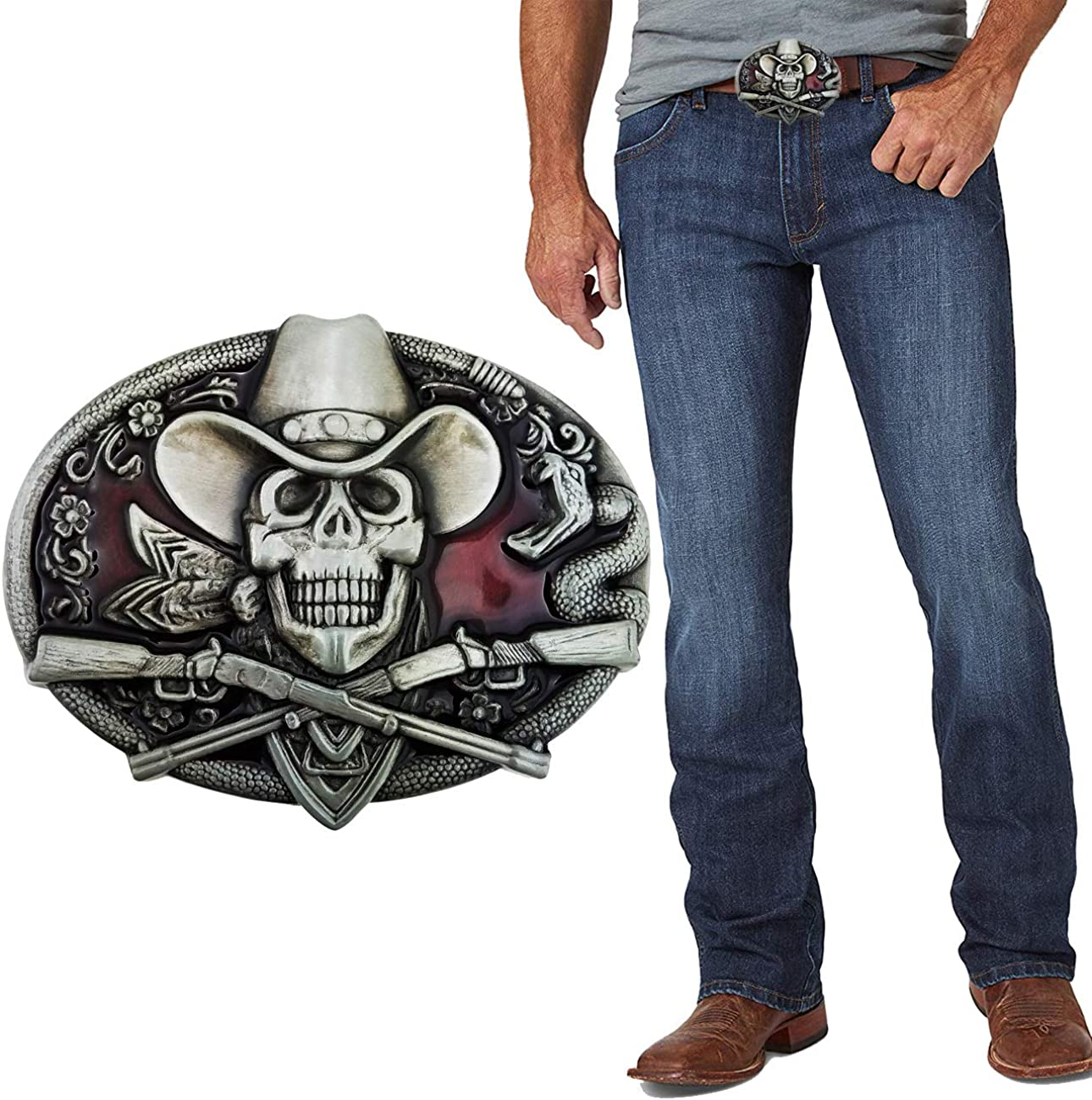 New product! New type XGALA Skull Head Belt Buckle Max 86% OFF Cowboy Mens For Western
