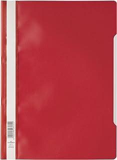 Durable 257303 - Carpeta para documentos (plástico, 50 unidades, A4), color rojo