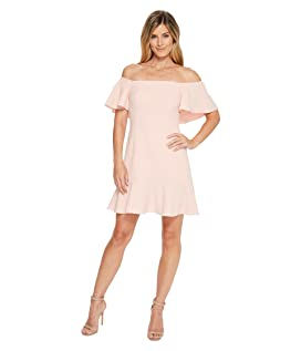 Off the Shoulder Dress with Top Ruffle and Flounce