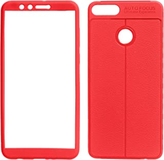 Auto Focus 360 Full Cover for Huawei Y9 2018, Red