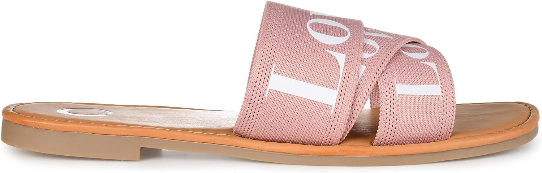 Brinley Co. Womens Comfort Foam Soft Square Toe Slide