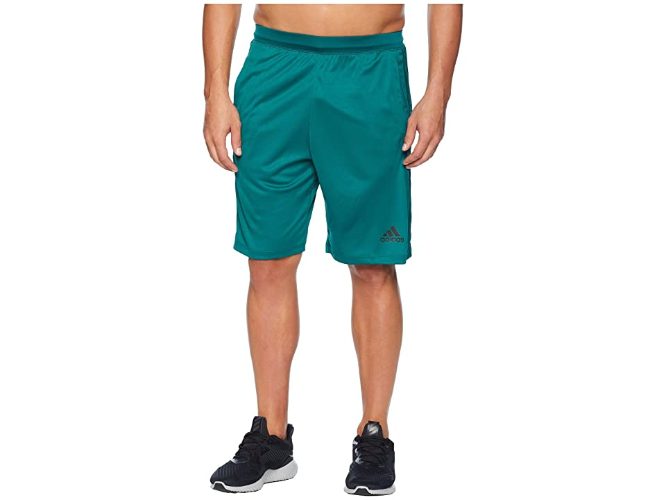 adidas Designed-2-Move 3-Stripes Shorts (Noble Green/Noble Green) Men