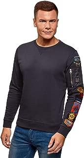 oodji Ultra Men's Fleece Sweatshirt with Patches