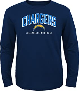 NFL LA Chargers Toddler Arch Standard Long Sleeve Tee Navy, 4T