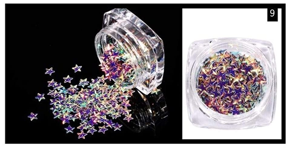 1 Box Star Glitter Star Sprinkle / 3D Confetti Star Sequin Micro Star/Fake Topping (12 Colors / 3mm / 3g) Glitter Sequins (Patter 9)