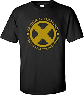 Xavier's School of Gifted Youngsters X-Men Superhero Mens Black T-Shirt