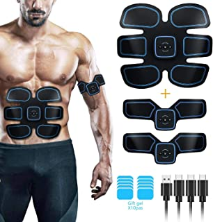 HAIJIXING ABS Stimulator, Muscle Toner - Abs Stimulating Belt- Abdominal Toner- Training Device for Muscles- Wireless Portable to-Go Gym Device- Muscle Sculpting at Home