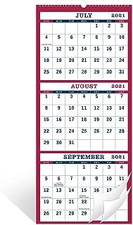"2021-2022 Wall Calendar - 3 Month Display Vertical Calendar, June 2021 - July 2022, Calendar Planner, 11"" x 26"", Large, La..."