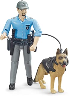 Bruder 62150 bworld Policeman with Dog