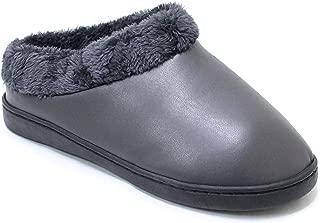 H2K Women's Cozy Slippers Fuzzy Faux Fur Slip On Comfort Indoor Outdoor Boots Shoes Alaska