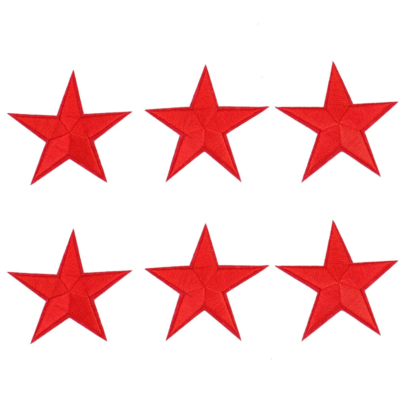 Monrocco 30PCS Red Star Applique Clothing Iron On Patch Sewing Craft Decoration for DIY Clothing Jeans T-Shirt