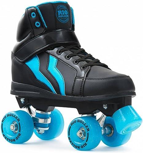 Rio Roller Kicks Style Quads Patins à roulettes Noir Bleu 40,5