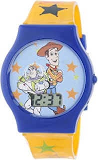 Disney Kids' TY1095 Toy Story Watch with Yellow Plastic Band