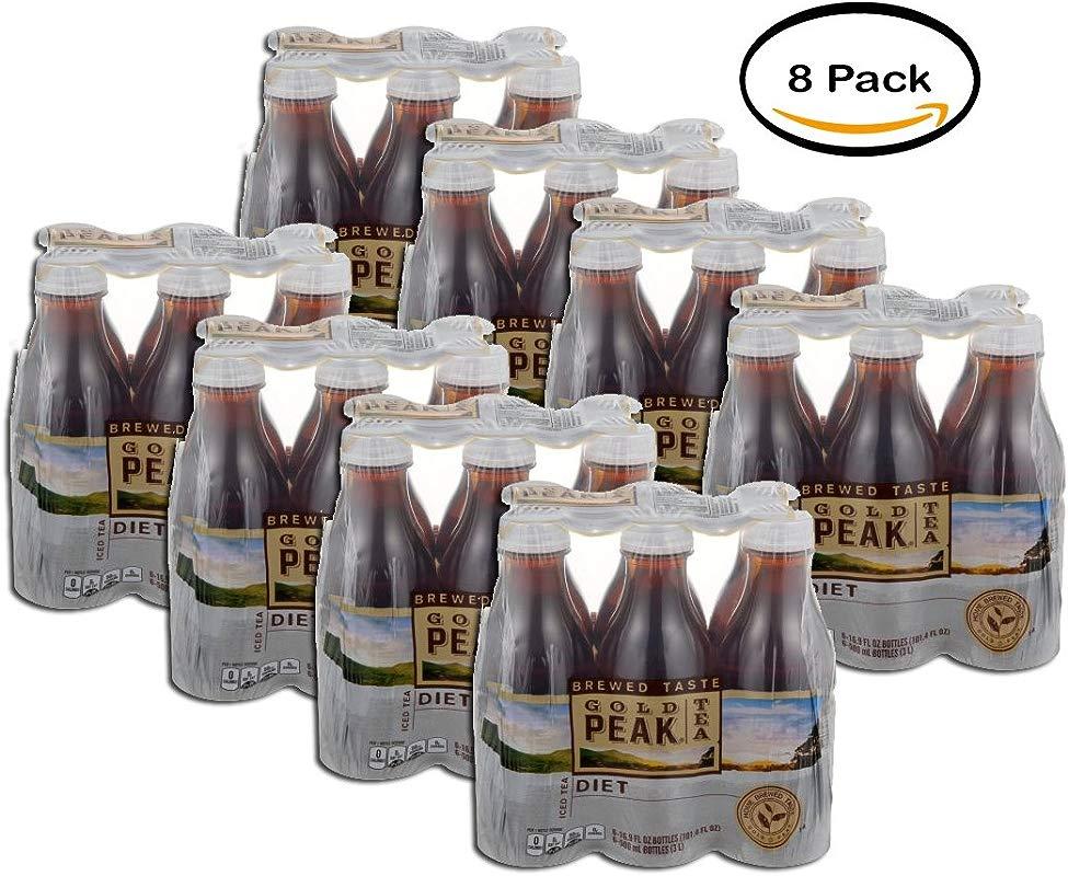 PACK OF 8 Gold Peak Iced Tea Diet Bottles 6 CT