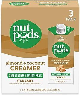 nutpods Keto-friendly Caramel Sweetened coffee creamer, Zero-Sugar, 5 Calories per serving, Dairy-Free, WW, Gluten Free, N...