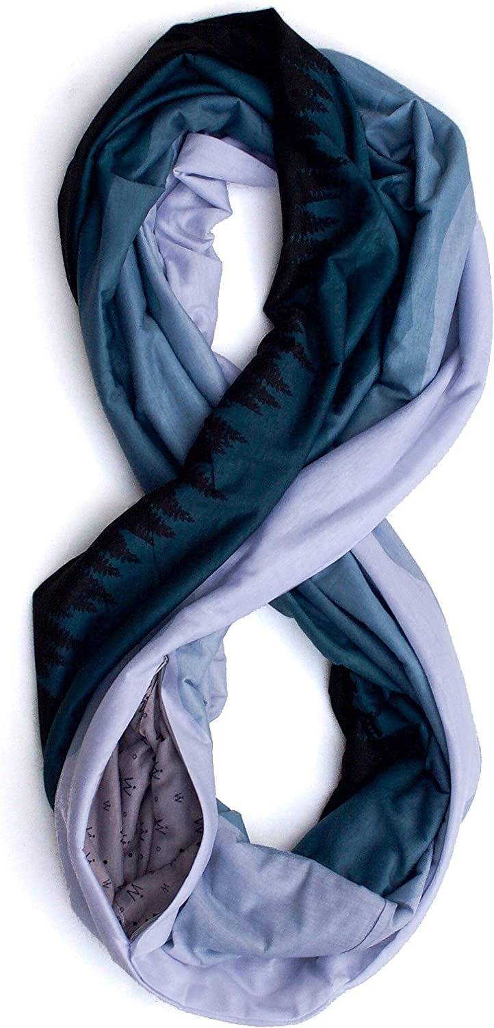 Waypoint Goods Infinity Scarf with Durable Outstanding Zipper Pocket Styl - Limited time sale