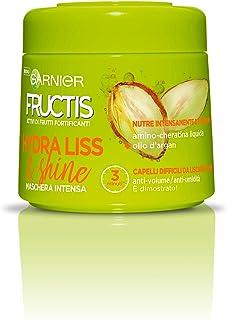 Garnier Fructis Hydra Liss 72H Maschera Fortificante per Capelli Difficili da Lisciare o Secchi, 300 ml