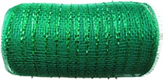 6 inch x 30 feet(10 Yards)-YYCRAFT Metallic Deco Poly Mesh Ribbon(Emerald)