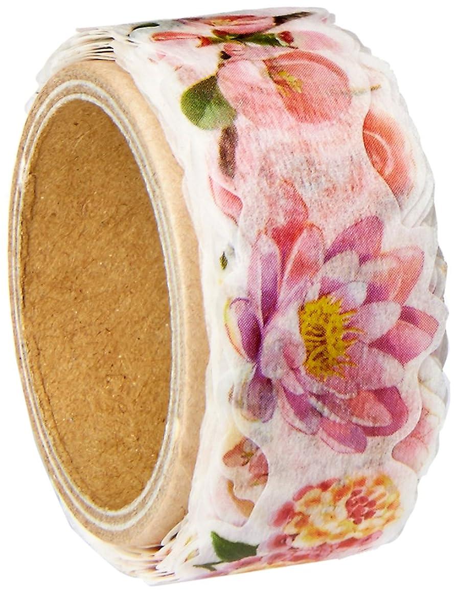 Roundtop Designer's Washi Masking Tape 20mm x 5m, Yano Design Series Flowers for Collage, Pink (YD-MK-043)