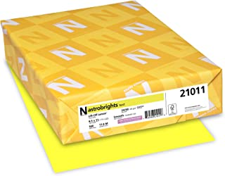 Wausau AstroBrights Color Laser/Inkjet Paper, 500 Sheets, Lift-Off Lemon, 24 lb, 8.5 x 11 Inches