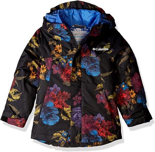 Columbia Girls Whirlibird Ii Interchange Jacket, Black Floral