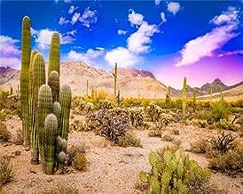 AOFOTO 5x4ft Arizona Desert Landscape Backdrop Blue Sky American Southwest Nature Desert Cholla Mountains Saguaro Cactus Landscape Photography Background Travel Vacation Photo Studio Props Vinyl