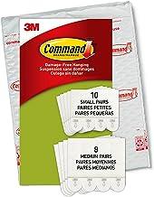 Command Kleine en middelgrote ophangstrips, verpakking met 4 x 2 fotohangers, maat S en M, wit, lijst en poster, muurstick...