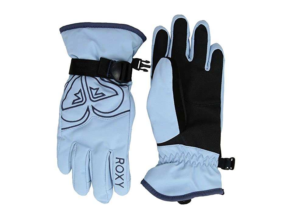 Roxy Kids Poppy Gloves (Little Kids/Big Kids) (Powder Blue) Extreme Cold Weather Gloves