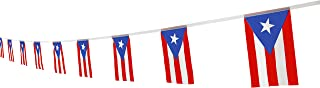 Best Kind Girl Puerto Rico Flag Puerto Rican Flag,100Feet/76Pcs National Country World Pennant Flags Banner,Party Decorations Supplies for Olympics,Bar,Indoor and Outdoor Flags,International Festival Review