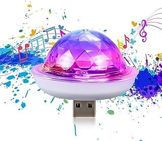 USB disco bal licht, USB bal party licht, beweegbare stroboscoop, LED auto decoratieve verlichting, voor Halloween / Kerst...