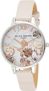 ساعة ماركة أوليفيا بيرتون ماربل فلورالس –أنالوج- سوار من الجلد - OB16CS21