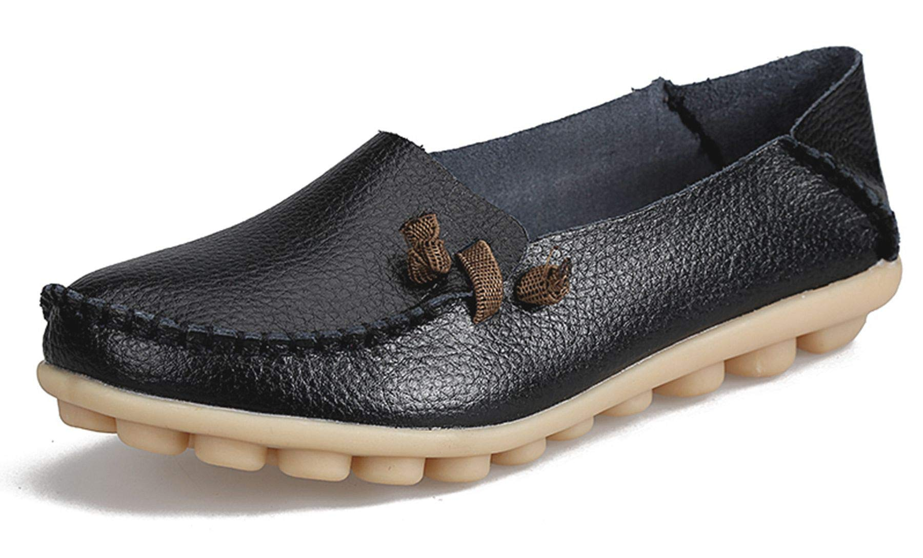 Leather Loafers Breathable Driving Comfort
