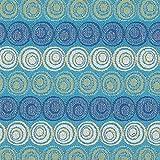 Fabulous Fabrics Jacquard Gobelin Circulos – türkis —