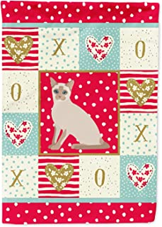 Caroline`s Treasures CK5799CHF Tonkinese Cat Love Canvas House Size Outdoor-Flags, Multicolor